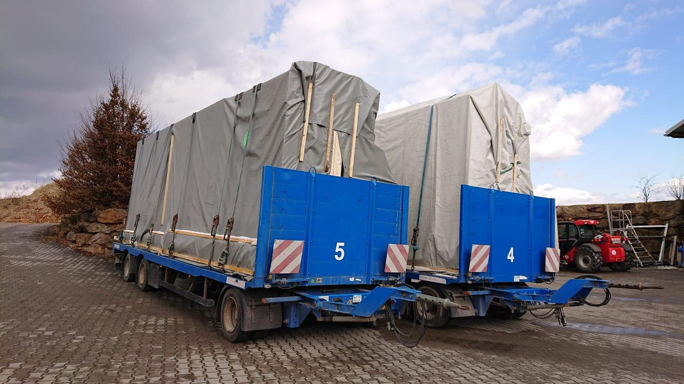 Elementtransport und Lagerung thon Holzbau Generalunternehmer Wien Niederösterreich